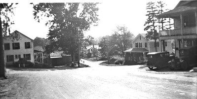 Abington 4 Corners 1925 Look South form Rte  97 Rt 44 is the cross road