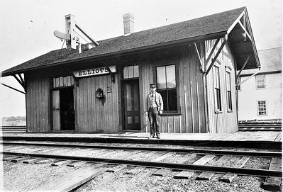 Eliots Station Early 1900s Alfred Weeks Station Agent006
