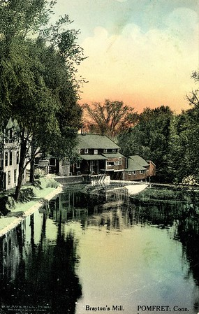 Brayton Mills around 1916 to 1917 Post  Card Appears to be Colorized Photo of Mill before fire in the 1890
