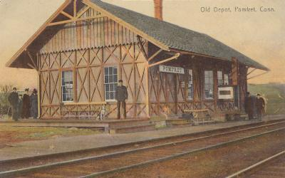 Pomfret Train Station early 20th Century